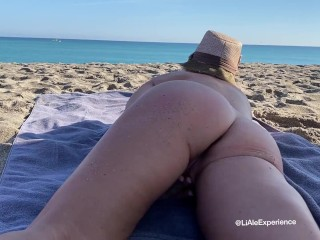 Touching myself at the nude beach....