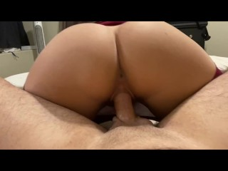 Fucked the fit girl from the gym RAW and came on her juicy ass - Amateur Misss Mia