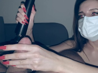 Teen Sextoy Vibrator play with cock and give cumshot