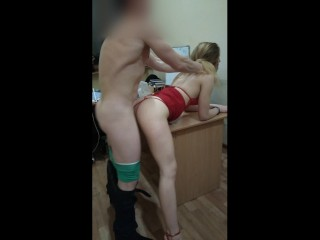 sexy secretary fucking hard on the office table
