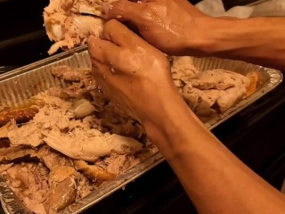Cooking with Ash Steele - Making turkey tacos from a whole turkey!!
