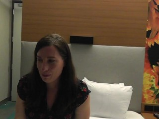 WIFE'S INTERVIEW BEFORE SHE TAKES HER FIRST BBC!