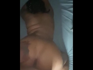 Step mom black mailed into letting me nut in her