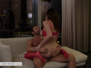 Tonights Girlfriend Michele James provides the romance that her client has