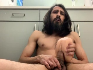 Fake pussy breaking my big cock