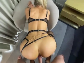 Blonde With Great Arse Gets Fucked In Lingerie
