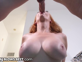 Sexy Redhead Stepmom Knows How To Convince Son To Be Nice