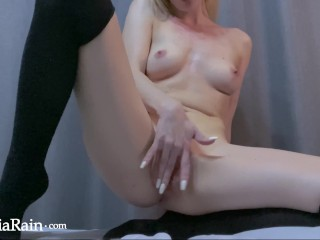 Cute Babe Teasing and Play Pussy - Female Orgasm