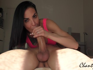 SEXY STEPMOM gets a SPECTACULAR THROATPIE from her stepson after a sloppy DEEPTHROAT!