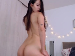 Horny babe moaning of pleasure