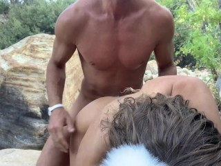 Outdoor Fucking With Butt Plug Tails