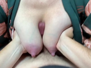 My Big Heavy Tits Smother a Cock and Get Jizzed All Over