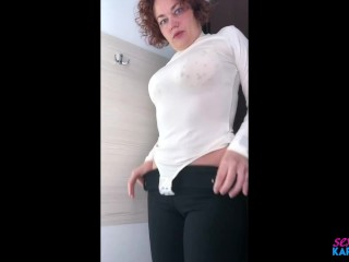 Hot Milf Tries on Clothes in Fitting Room!