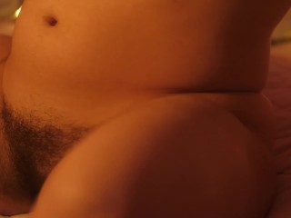 Maria Alive - ASMR/HAIRY - Wet hairy pussy playing with glass balls