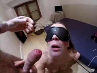 Homemade blowjob and facial in busty blonde milf from ForSex.eu