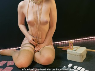 JOI Femdom Game More Less. Prepare Your Ass (English subtitles)