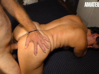 XXXOmas - Mature German BBW Erotic Pussy Fuck With Her Horny Husband - AMATEUREURO