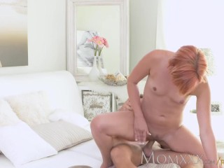 MOM Redhead Milf gets a good fucking before creampie from young stud