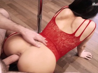 Hottie Stripper Rough Fucks and Gets Cum on Big Ass for Money