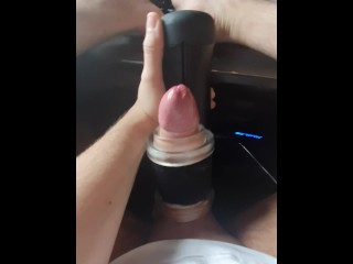 Young dick experiences intense orgasm *heavy moaning*