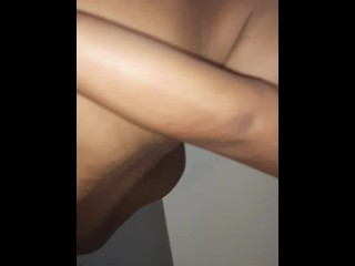 My girlfriend getting fucked by older bro while friends cook in the kitchen and wash dishes.