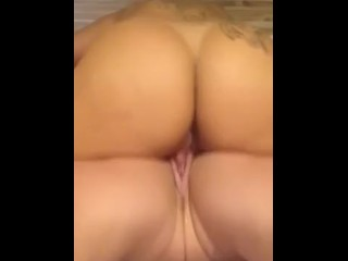 Latina and white girl rub wet pussy together