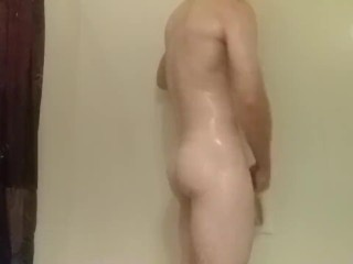 Shower with ass play and cumshot