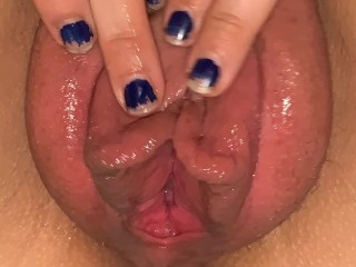 My husband pumping and fisting my pussy