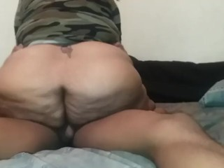 Step-Mom Mrs. Meaty Rides Son's BBC For A Creampie ***FULL***