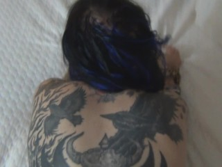 Sexy alt tattooed big tit porn girl gets banged and gets cum in her mouth