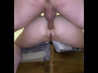 Intense Anal Fucking with creampie and gape- quarantine time