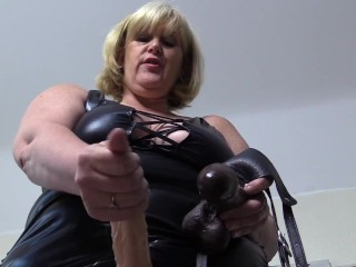 Mature Mistress Catherine wants you to take her Strap On.